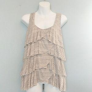 Eyelash Coutour ❇ layered sleeveless blouse